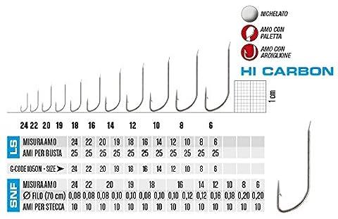 Ami Gamakatsu Serie snf1050N-120N N12Beutel 10Ami verbunden mit 0.16Draht