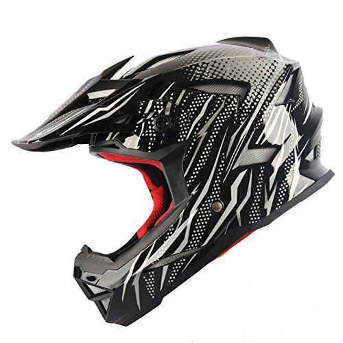 Preisvergleich Produktbild GTYW Motorradhelme Offroadhelme Mountainbikes Vollhelme Downhillhelme Rennwagen Sicherheitshelme Neueste Sicherheitsstandards ECE, C-L=59-60cm