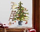 TinyFoxes Fensterbild Christbaum - wiederverwendbar und ohne Kleber - 35