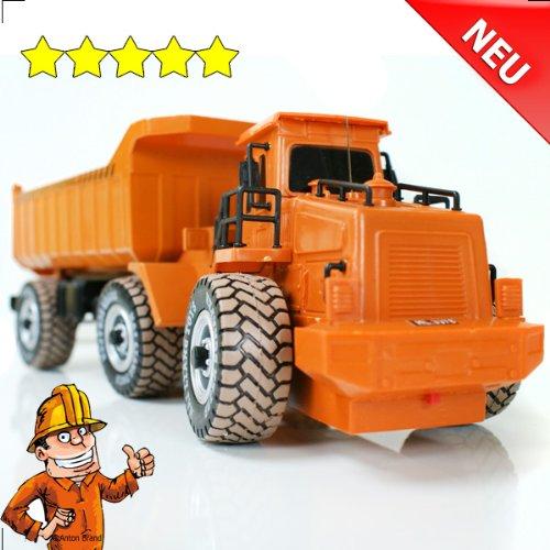 RC Auto kaufen LKW Bild 5: RC Muldenkipper Kipplader Bagger ferngesteuertes Baufahrzeug Super Truck 27 MHz V&V ®Noyan*