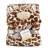 Tongchou Baby Kleinkinder Kids Badetuch mit Kapuzenhandtuch Badeponcho Braune Giraffe