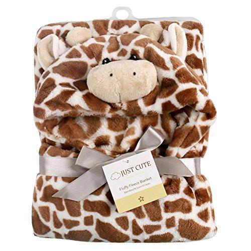 Tongchou Baby Kleinkinder Kids Badetuch mit Kapuzenhandtuch Badeponcho Braune Giraffe (Braunen-bad-handtücher)