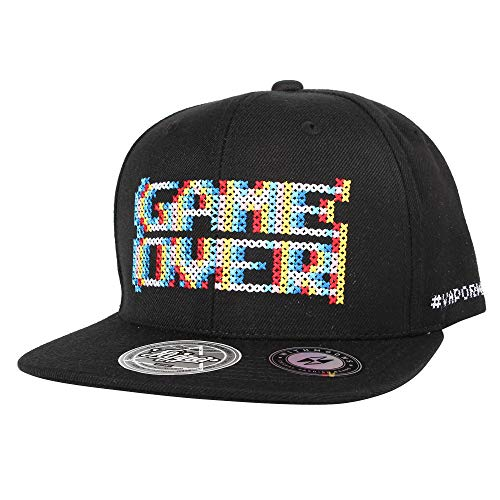 603be11646c27 WITHMOONS Cappellini da baseball Cappello Baseball Cap Snapback Hat Game  Over Embroidery AL21081 (Black)