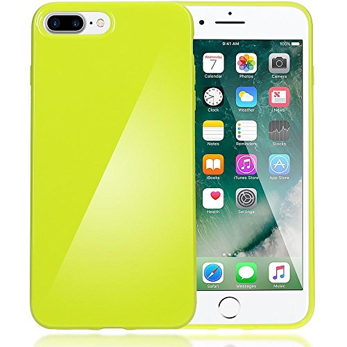 delightable24 Protezione Cover Case in Silicone TPU Jelly per Smartphone APPLE IPHONE 7 PLUS - Neon Verde Chiaro
