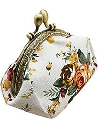 Vovotrade® Femmes Dame Rétro Vintage Fleur Petit portefeuille Fermoir sac à Main Embrayage