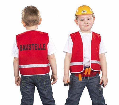 Kinder Kostüm Bauarbeiterweste für Kinder, Größe - Bauarbeiter Kostüm Baby