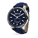 Sector Herren Analog Quarz Uhr mit Leder Armband R3251575011