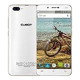 Telephone Portable, CUBOT RAINBOW 2 3G Smartphone debloqué Android 7.0 Double SIM, 5.0' IPS Écran, 13MP + 2MP Appareil Photo Avec Flash, 16Go ROM, MT6580A , 1.3GHz Quad-core, Téléphone Portable Pas Cher Sans Forfait (Blanc)