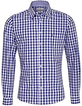 Almsach Trachtenhemd Gustel Slim Fit in Blau Inklusive Volksfestfinder