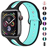 Maledan für Apple Watch Armband 38mm 40mm, Uhrenarmband Sportarmband Weiches Silikon Dauerhaft...