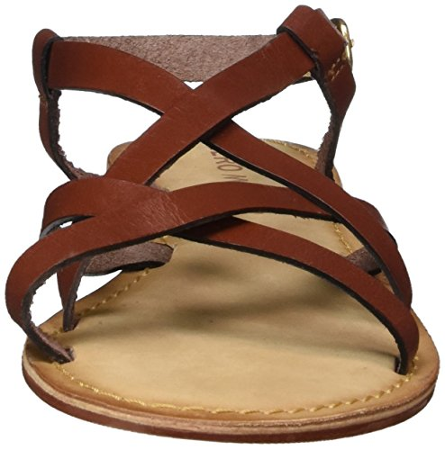 Vero Moda Vmvina Leather Sandal, Cinghietti Donna Rosso (Henna)