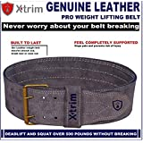 4 INCH-Genuine Suede Leather-Power- Weightlifting-Squat-Belt-Back Support-Professional Brace-Double Prong Closure-8 MM Thick-for Men-Non Slip-Long Lasting- Competition Standards !!!
