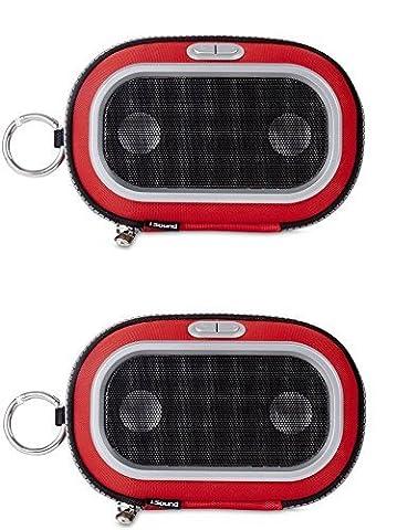 JUMEAU lot de iSound Concert To Go Universel Haut-parleur Portable Coque Rouge compatible pour iPhone 6S et Similaire