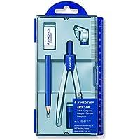 NORIS CLUB 550 60 S1 - Compás escolar con tubo de minas, lápiz y goma de borrar, estuche individual