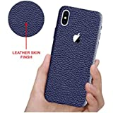 "Leather Case For Apple IPhone X, Case Creation (TM) 100% Transparent Flexible Soft Thin Border Corner Protection With TPU Slim Matte Back Case Back Cover For Apple IPhone X / IPhone 10 / IphoneX / IPhone X (2017) 5.8"" Inch -Color Dark NavyBlue"