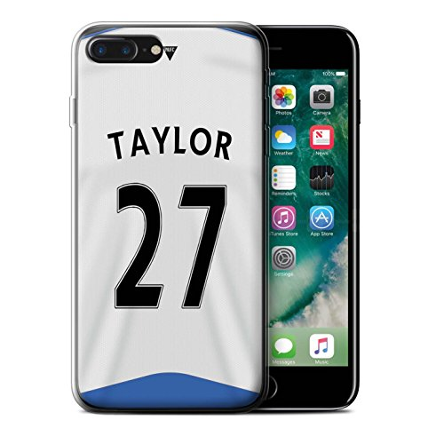 Officiel Newcastle United FC Coque / Etui Gel TPU pour Apple iPhone 7 Plus / Obertan Design / NUFC Maillot Domicile 15/16 Collection Taylor