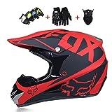 Kuccy Casque Motocross, Enduro Full Face Casques XR-996 Tout-Terrain Sport de Moto...