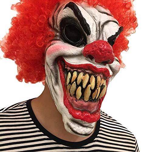 Clown Scary Kostüm Super - Maske Maskerade Prom Maske Clown Maske Scary Halloween Kostüm Horror Maske Bloody Latex Maske Super Terrorist Maske Party Terror Cosplay Kostüm Maske für Erwachsene