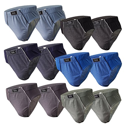 6-12 Slips Herren Unterhosen Männer Slip Unterwäsche Baumwoll Unterwaesche Unterhosen Sportslips Farbmix (XXXL, 12.Stück 530), Herstellergröße 10