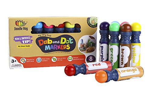 dab-and-dot-markers-set-of-8-washable-paint-dauber-markers-dabbers-for-learning-alphabets-numbers-ma