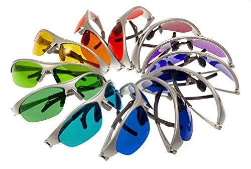 FIRSS Sonnenbrille Rahmenlose Metal Glasses Frame Runde Bonbon-Farbbrillen mit gro/ßem Rahmen unterschiedliche Farben Brillengl/äser Party Brille