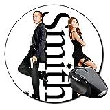 Sr Y Sra Mr & Mrs Smith Brad Pitt Angelina Jolie Tapis De Souris Ronde Round Mousepad PC