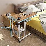 ZCCDNZ Nachttisch Laptoptisch Lazy Tisch Bett Tisch Kleiner Tisch im Schlafzimmer Bewegliches Heben Mini Student Einfach (Farbe : C, größe : 80cm)