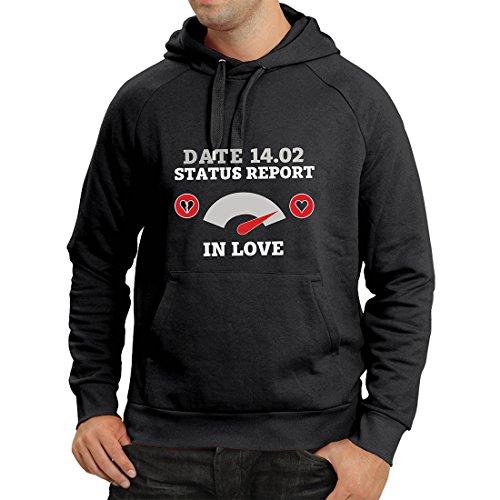 Kapuzenpullover 14. Februar Valentinstag Statusbericht. Ich Liebe Dich ! (Small Schwarz Mehrfarben) (Ein Dich Kuss Bedeutet: Ich Liebe)