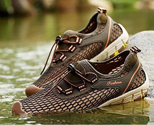Z&HX sportsI pattini di sport esterni pattano i pattini casuali delle scarpe da corsa traspiranti della scarpa da corsa Green