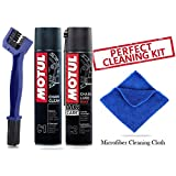 #4: Motul Combo of C2 and C1 (400 ml) with GrandPitstop Chain Cleaning Brush and Microfiber Cloth