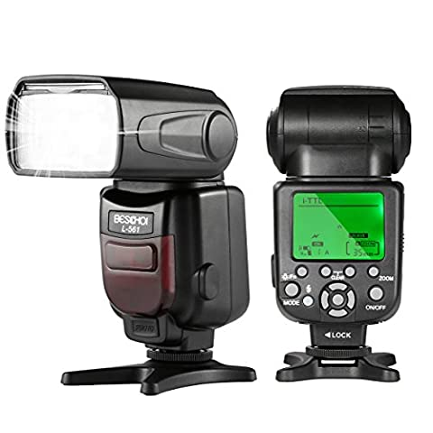Speedlite Flash for Nikon DSLR Camera, Beschoi L561N I-TTL Camera Flash with Auto-Focus and Wireless Slave Function