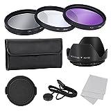 Objektiv Filter Set - SODIAL(R) Objektiv Filter Set Professional fuer Canon Nikon Sony und Andere Digitale SLR-Kamera Objektive mit Filtergewinde, 62MM