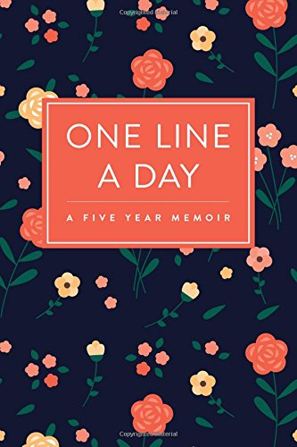 one-line-a-day-journal-a-five-year-memoir-6x9-lined-diary-floral-pattern-journals-notebooks-and-diar