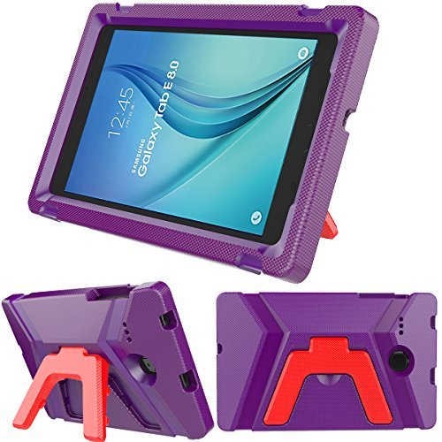 Samsung Galaxy Tab E 8.0 inch Kids Case - Light Weight Shock Proof Kids Friendly Foldable Kickstand Protective Case for Samsung Galaxy Tab E 8-inch Tablet (Purple)