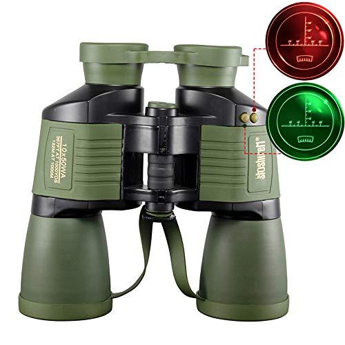 YHBHHW Fernglas 10x50, mit Koordinaten-Autofokus, hoher Vergrößerung, Festfokus-Teleskop, Outdoor-Aktivitätsausrüstung, leichtem Handschimmer
