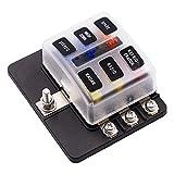 Soporte de caja de fusibles para coches, de 32V, CC, para fusibles de cuchilla, resistente al agua y para autobuses, coches y barcos