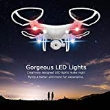 Ionlyou Selfie Drone WIFI FPV APP-Controllable, Height-Hold, G-Sensor Controlable, Voice Control, Headless Mode for all Level Pilots, 2MP Camera Swivel, Remote Control with Mobile Holder, White