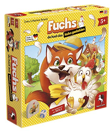 Pegasus Spiele 66015G - Fuchs du hast das Huhn gestohlen (Balance Huhn)