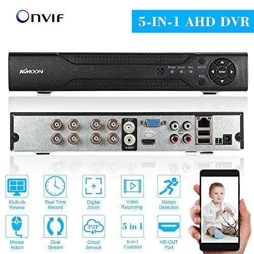 KKmoon, Videoregistratore DVR, DVR Video Recorder, Videoregistratore Digitale, 8 Canali 720P CCTV Network H.264 HDMI Sistema di Sicurezza Domestica