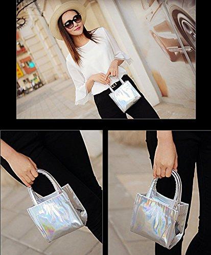 Fashion Bag , Damen Schultertasche, Gold - gold - Größe: silber