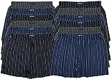 MioRalini TOPANGEBOT Boxershorts farbig weich & locker in neutralen Farben klassischen Unifarben Herren Boxershort, 12 Stück Ohne Eingriff 09, XL-7