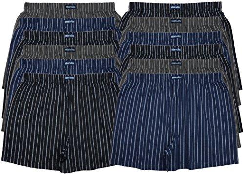 MioRalini TOPANGEBOT Boxershorts farbig weich & locker in neutralen Farben klassischen Unifarben Herren Boxershort, 12 Stück Ohne Eingriff 09, XXXL-9
