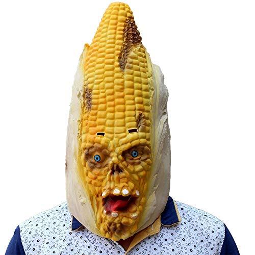QJKai Halloween Maske Weihnachten Ball Mais Styling Maske Party Maske Spiel lustige Party liefert (Outdoor-halloween-party-spiele Für Erwachsene)