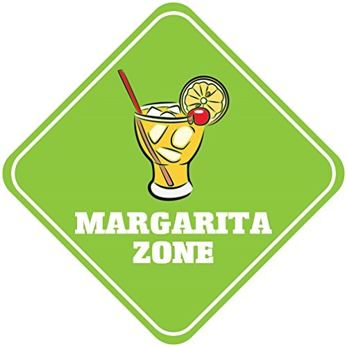 wennuna Margarita Zone Metall Aluminium Neuheit Schild 30,5x 30,5cm