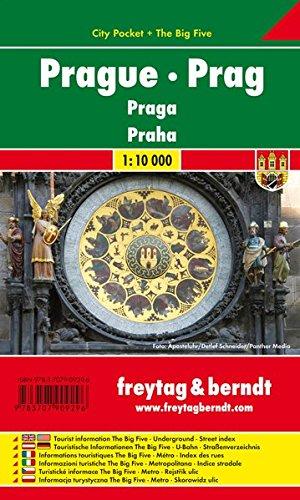 Prag, Stadtplan 1:10.000, City Pocket + The Big Five, freytag & berndt Stadtpläne: Stadskaart 1:10 000