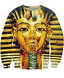 Leon's shop 3D Sweatshirt,Digital-Druckpaar-Baseballuniform kreatives Pharao, XL