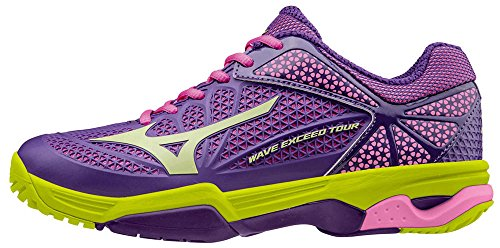 Mizuno Damen Wave Exceed Tour Ac Wos Tennisschuhe Viola (Pansy/Limepunch/Electric)