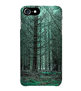 Fuson Designer Back Case Cover for Apple iPhone 7 Plus (Woods Forest Fallen Leaves Wilted trees Wilted Leaves)