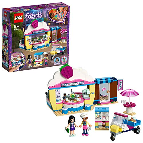 LEGO 41366 Friends Olivia's Cupcake Café Playset, Olivia and Emma mini-dolls Toy Scooter and Accessories, Fun Set for Kids Best Price and Cheapest