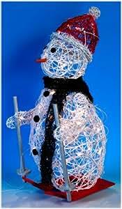 Magnifique Bonhomme de Neige Automate Lumineux -Haut de Gamme - mesurant 75 cm